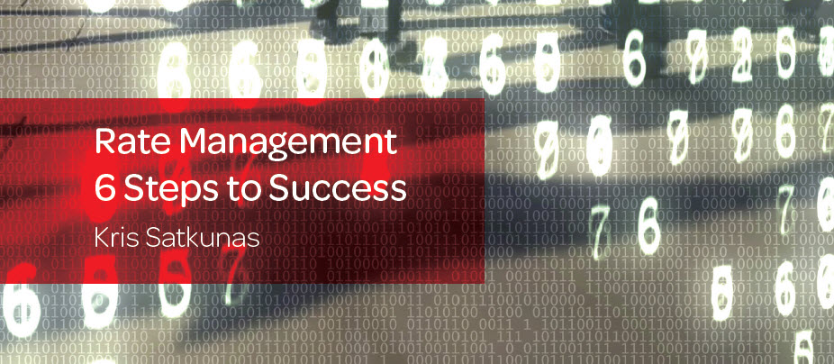 Rate Management– 6 Steps to Success