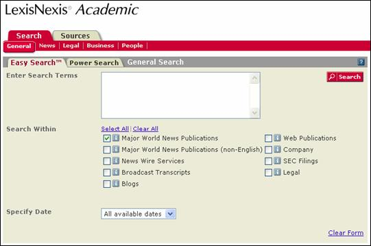 Academic paper search