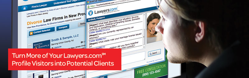 Ask a Lawyer on Lawyers.comSM tablet image