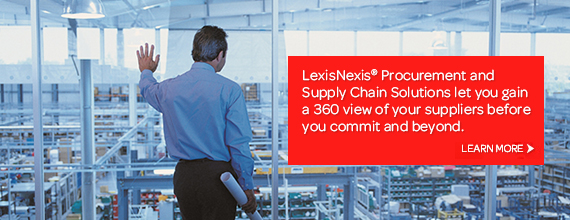 LexisNexis lets you gain a 360 view of your suppliers before you commit and beyond.