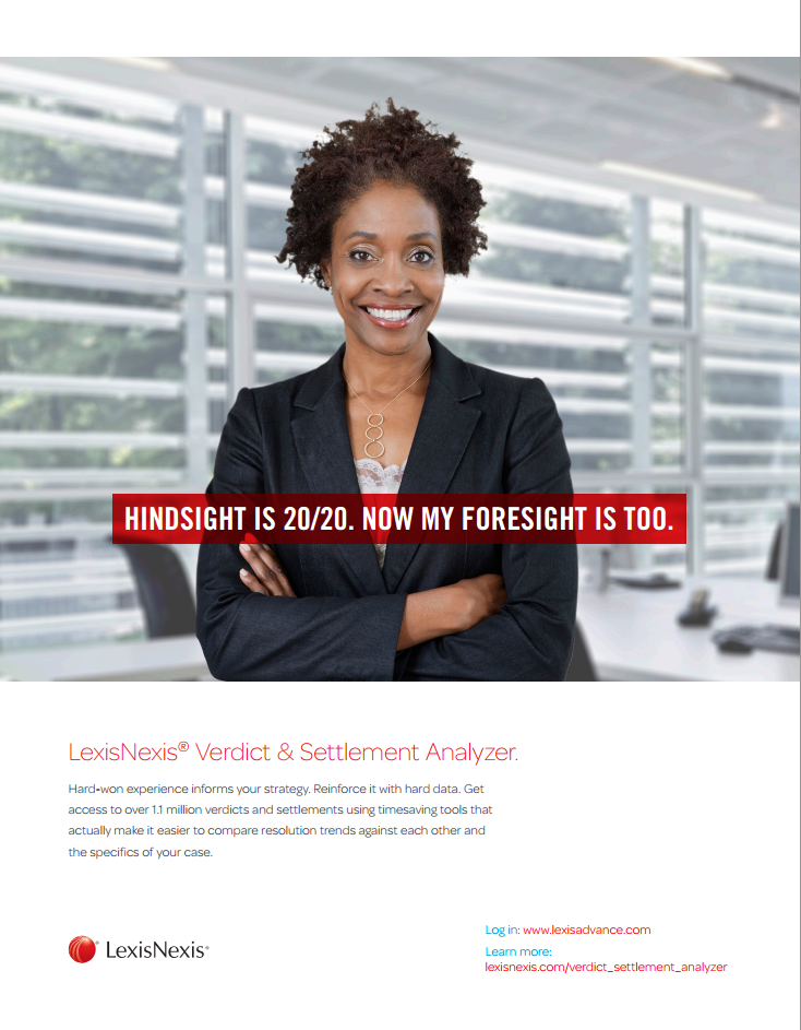 LexisNexis® Verdict & Settlement Analyzer Brochure