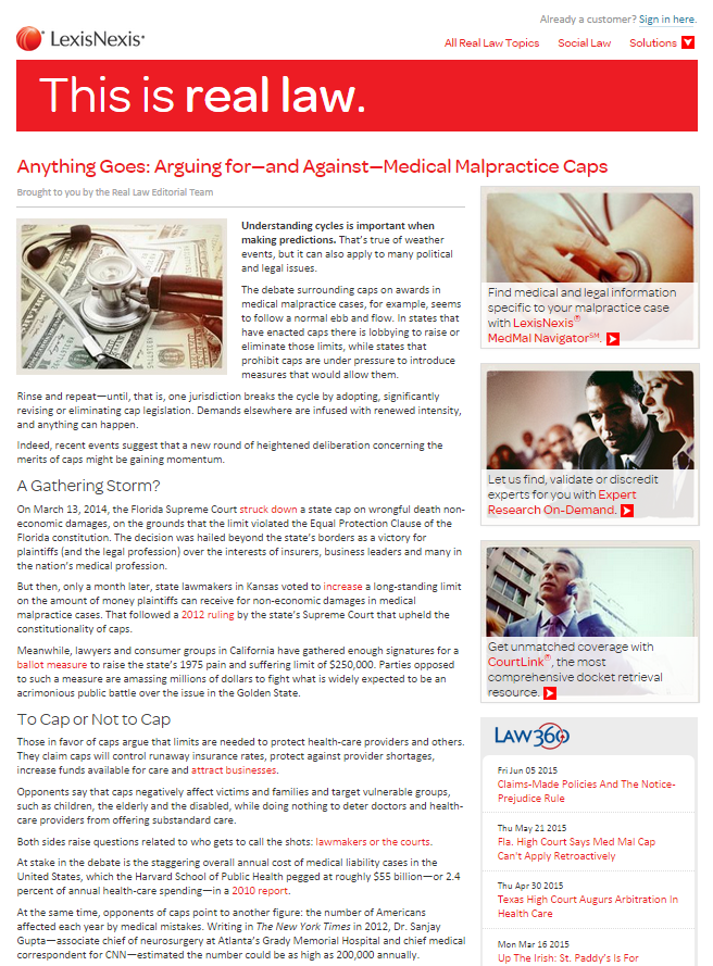 Anything Goes: Arguing for—and Against—Medical Malpractice Caps