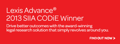 Lexis Advance CODiE award