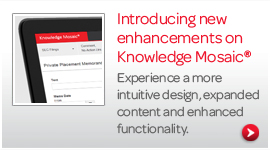 Check out the latest new enhancements on Knowledge Mosaic®