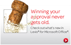 Check out what's new in Lexis® for Microsoft Office®