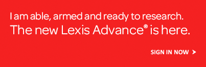 The New Lexis Advance is Here. Sign in now.