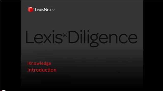 Introducing Lexis Diligence<sup>&amp;reg;</sup>