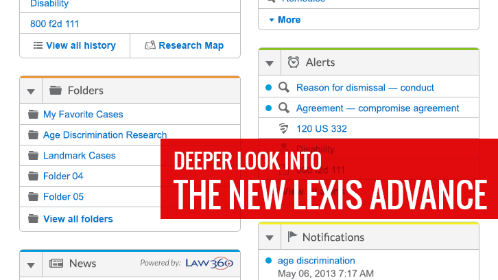 Deeper look into the new Lexis Advance
