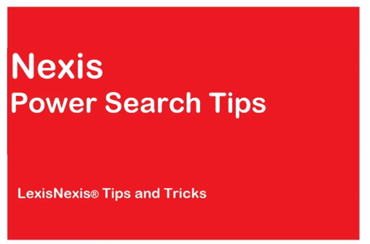 Run a power search in Nexis<sup>&amp;reg;</sup>