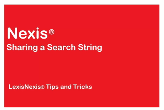 Share a Nexis<sup>&amp;reg;</sup> Search String