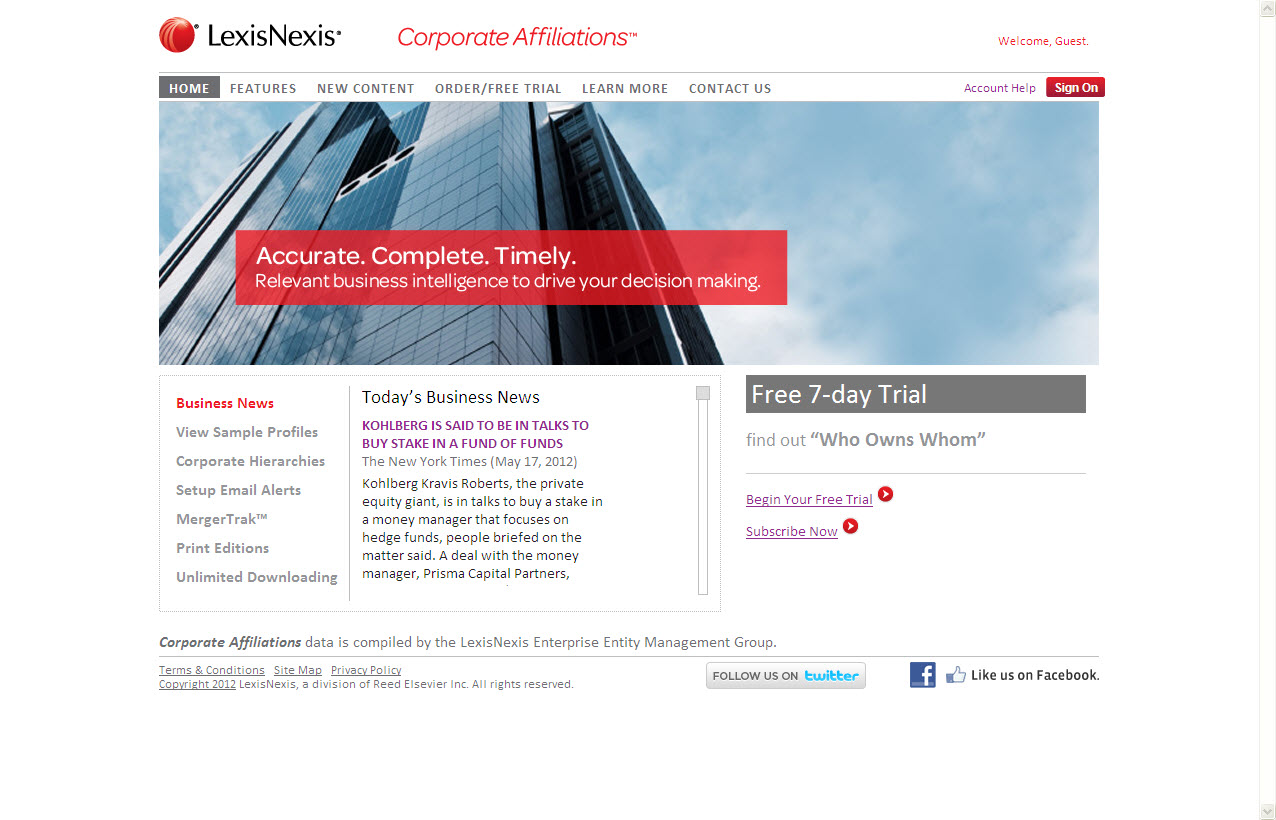 Corporate Affiliations™ | Business Intelligence