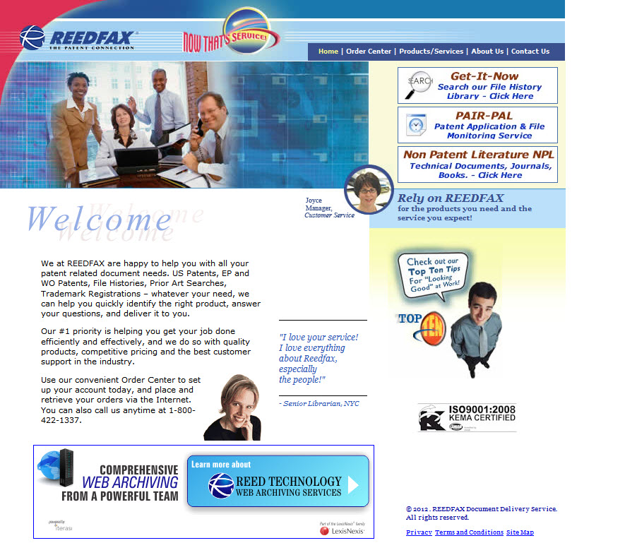 REEDFAX® | Intellectual Property Law Patent Document Database