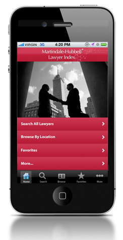 Martindale-Hubbell® Lawyer Index App for iPhone®