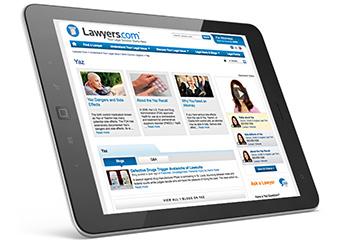Lawyers.comSM Mass Tort Featured Sponsorships tablet image