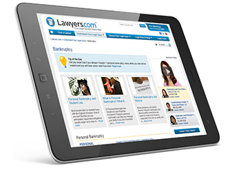 Lawyers.comSM Showcase Sponsorships tablet image