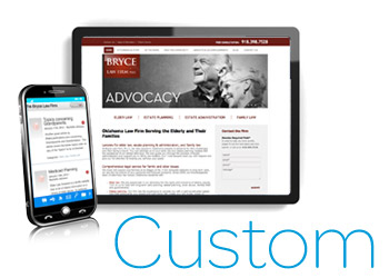 LexisNexis® Custom Web Visibility Solutions tablet and mobile image