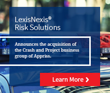LexisNexis Risk Solutions Acquires Crash and Project business group of Appriss