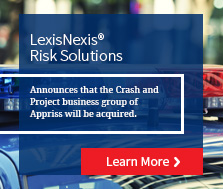 LexisNexis Risk Solutions to Acquire Crash and Project business group of Appriss
