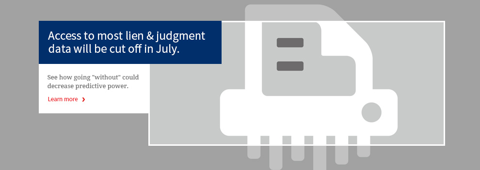 Access to most lien & judgment data will be cut off in July.