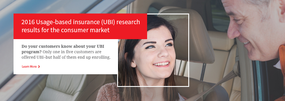 2016 Usage-based insurance (UBI) research results for the U.S. consumer market