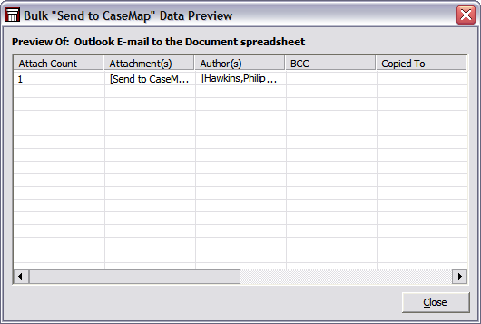 Send email to CaseMap