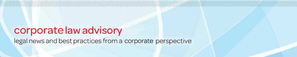 Corporate Counsel Advisory: Legal news and best practices from an in-house perspective