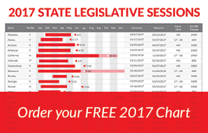 Order your free 2017 State Legislative Sessions Chart