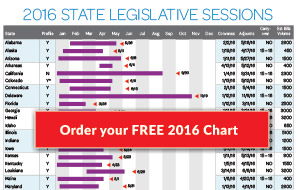 Order your free 2016 State Legislative Sessions Chart