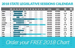 Order your free 2018 State Legislative Sessions Chart