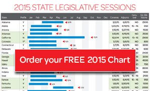 Order your free 2015 State Legislative Sessions Chart