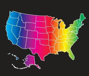 Usa Map Rainbow Colors Public Policy Media Gallery