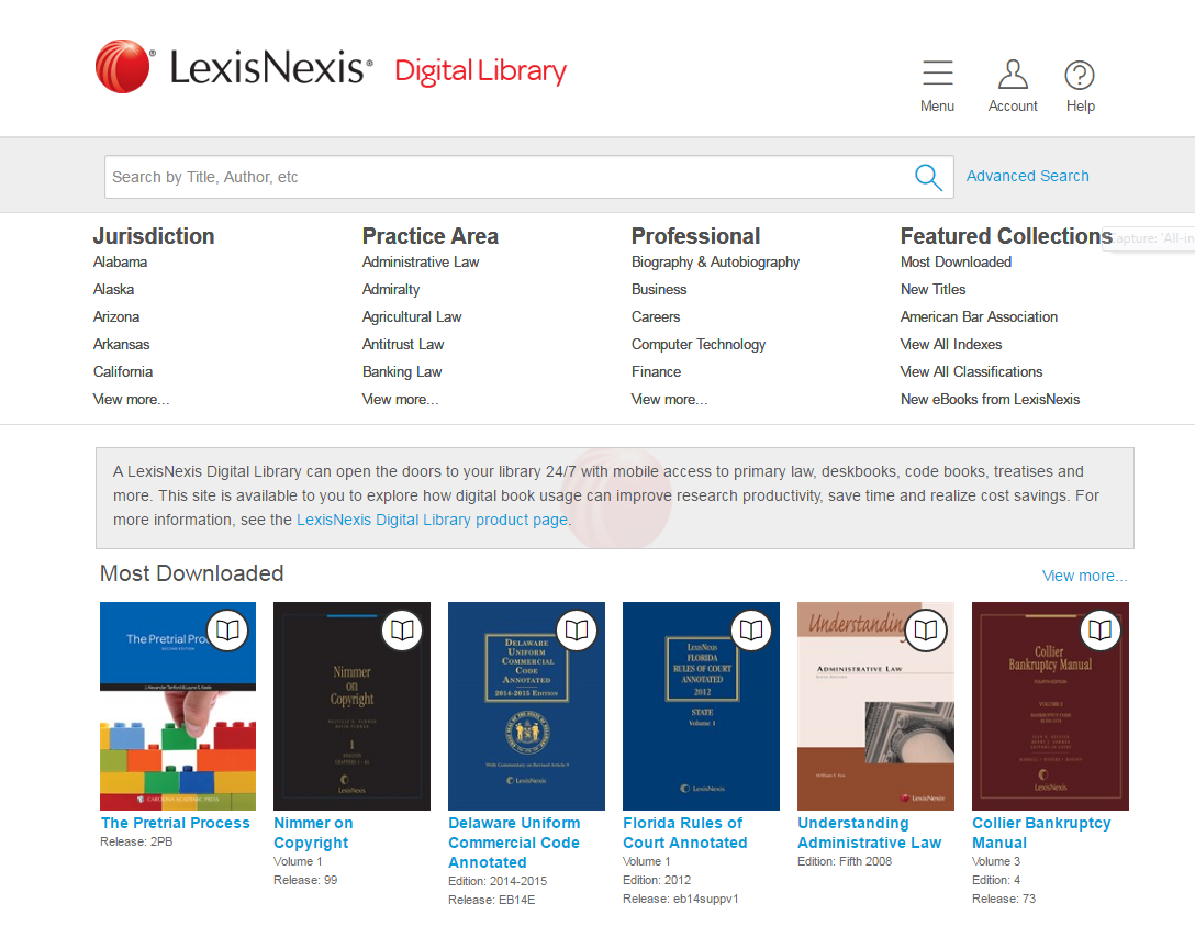 Digital Library Screenshot