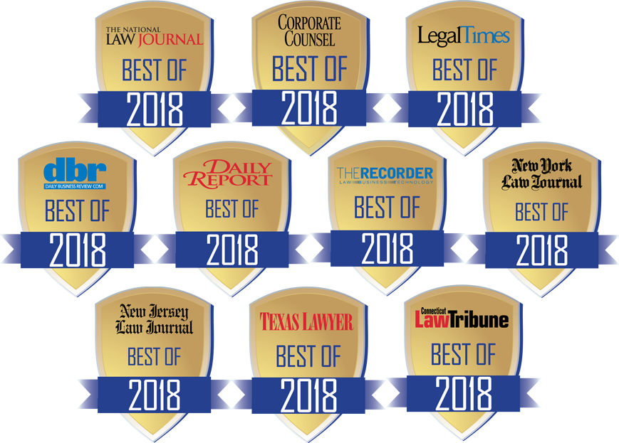 Gold, The National Law Journal 2018 Readers' Poll