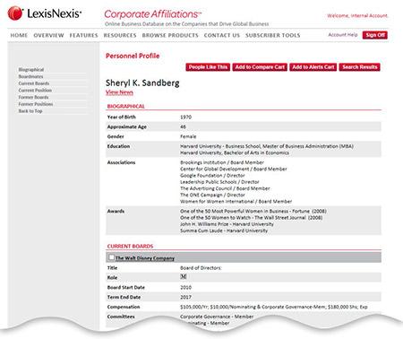 sample individual business profile