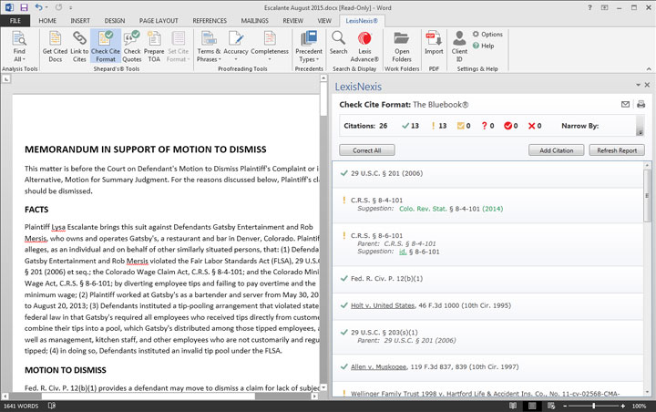 how to change a document format toa templted style