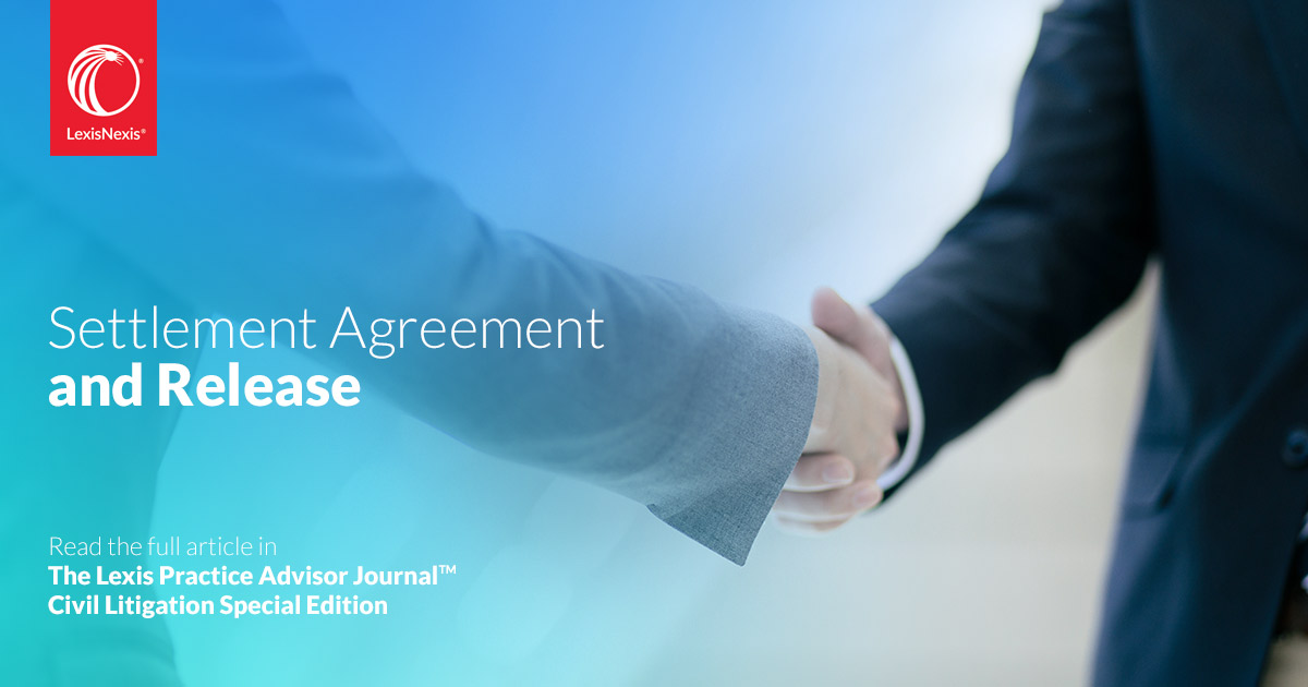 Settlement Agreement And Release Federal