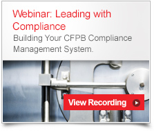 Building CFPB Compliance Management System Webinar