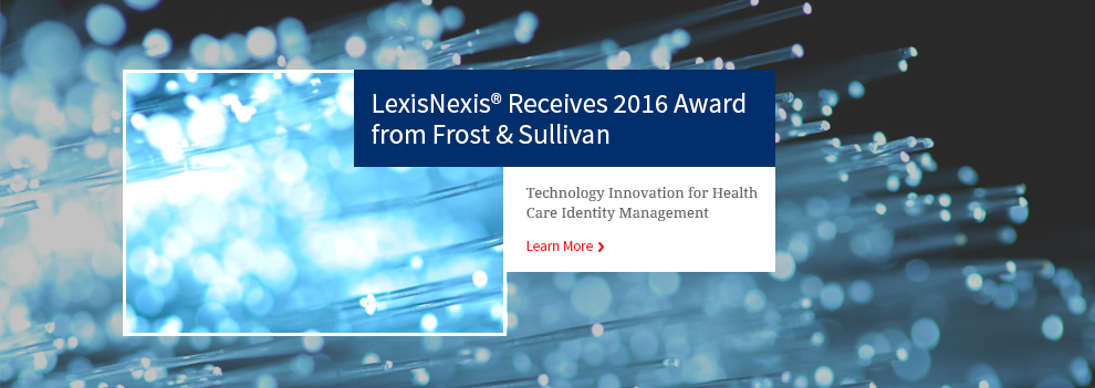 LexisNexis Receives 2016 Award from Frost & Sullivan